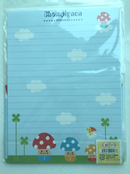 Writing paper and envelopes set - Super cute mushroom from Japan - CharmTape - 3