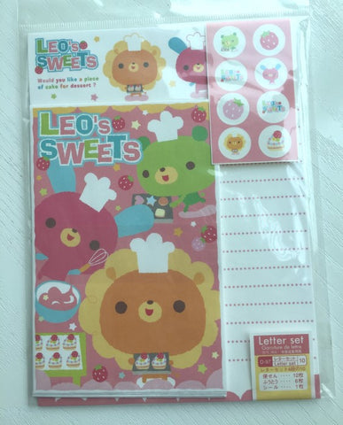 Writing paper and envelopes set - Leo's Sweet from Japan - CharmTape - 1