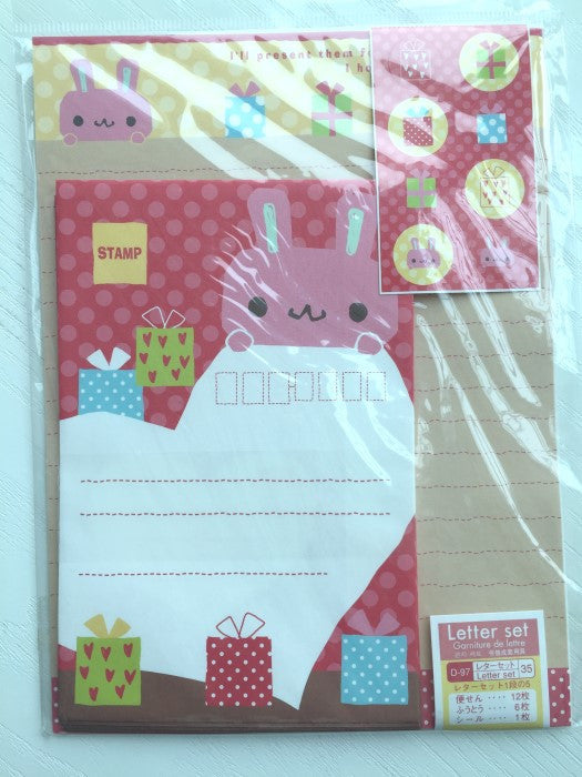 Writing paper and envelopes set - Bunny's Present from Japan - CharmTape - 1