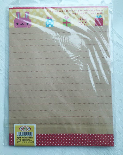 Writing paper and envelopes set - Bunny's Present from Japan - CharmTape - 3