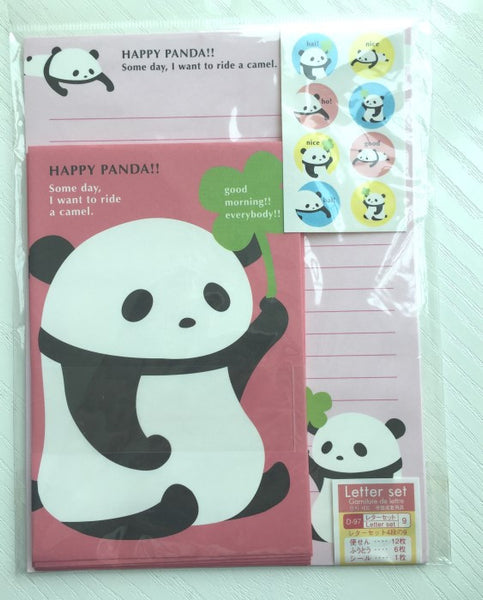 Writing paper and envelopes set - Happy Panda from Japan - CharmTape - 1