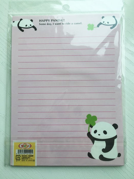 Writing paper and envelopes set - Happy Panda from Japan - CharmTape - 3