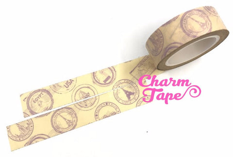 Landmark Washi Tape postal mark 15mm x 10 meters WT400