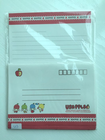 Writing paper and envelopes set - Cute Puppy Dog from Japan - CharmTape - 1