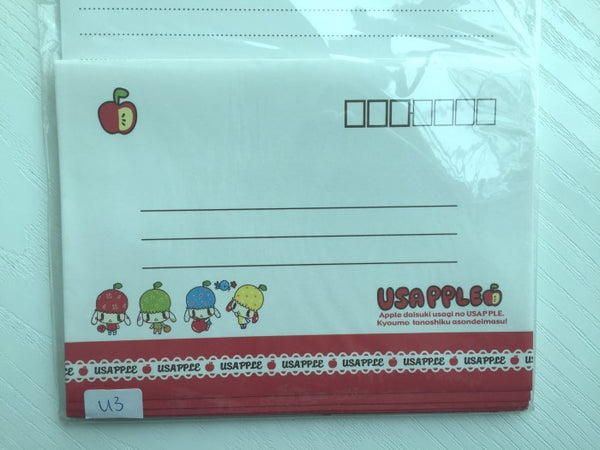 Writing paper and envelopes set - Cute Puppy Dog from Japan - CharmTape - 2