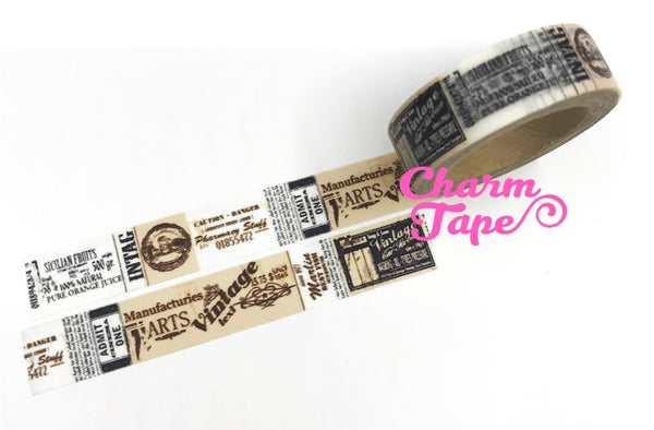 Vintage Poster Washi Tape 15mm x 10m WT221 - CharmTape - 3