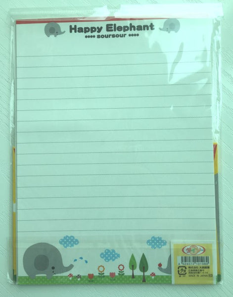 Writing paper and envelopes set - Happy Elephant from Japan - CharmTape - 3