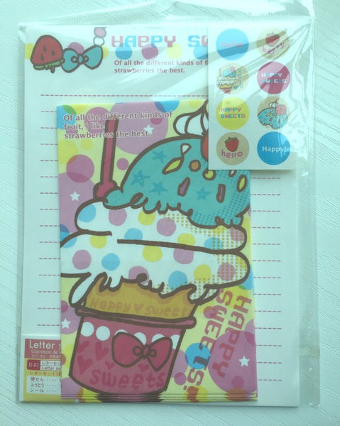 Writing paper and envelopes set - Ice-Cream from Japan - CharmTape - 1
