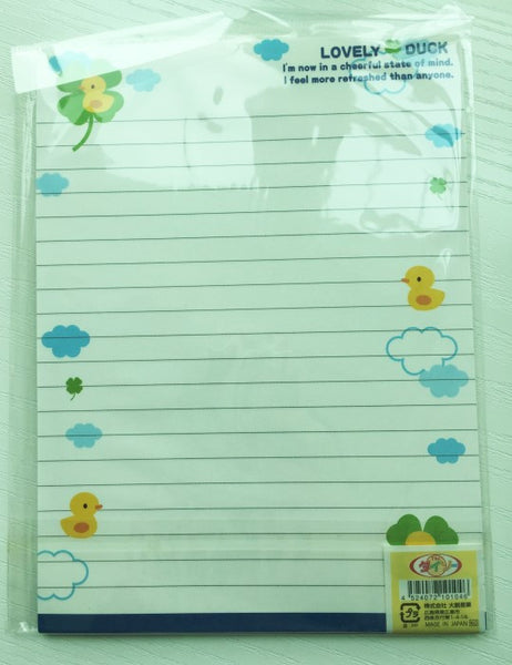 Writing paper and envelopes set - Lovely Duck from Japan - CharmTape - 3