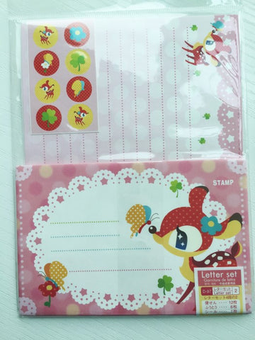 Writing paper and envelopes set - Cute Deer from Japan - CharmTape - 1