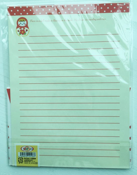 Writing paper and envelopes set - Little Matryoshka from Japan - CharmTape - 3