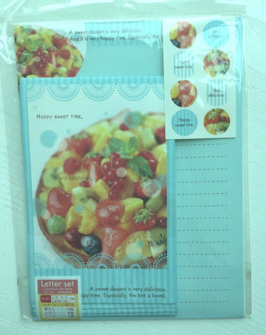 Writing paper and envelopes set - Fruit Tart from Japan - CharmTape - 1