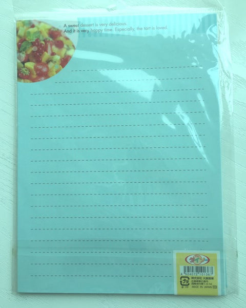Writing paper and envelopes set - Fruit Tart from Japan - CharmTape - 3