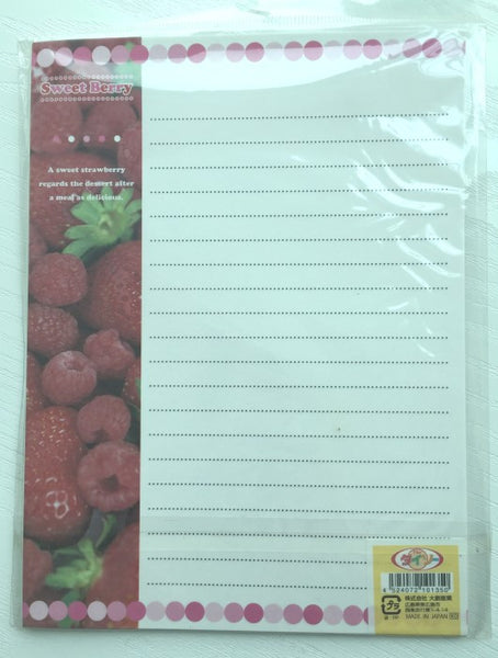 Writing paper and envelopes set - Sweet Berry from Japan - CharmTape - 3