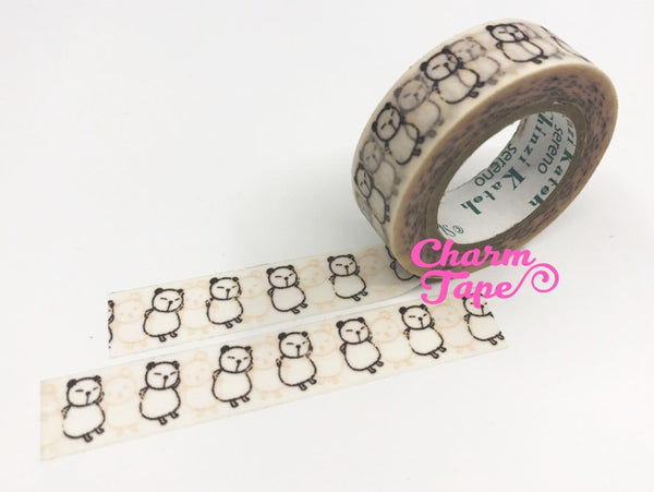 Dancing Panda Washi Tape 10m x 15mm WT298 by Shinzi Katoh - CharmTape - 5