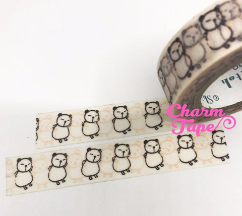 Dancing Panda Washi Tape 10m x 15mm WT298 by Shinzi Katoh - CharmTape - 1