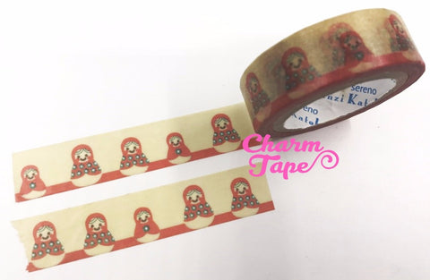 Russian Doll Washi Tape 15mm x 10m by Shinzi Katoh Matrioska, Babushka WT337
