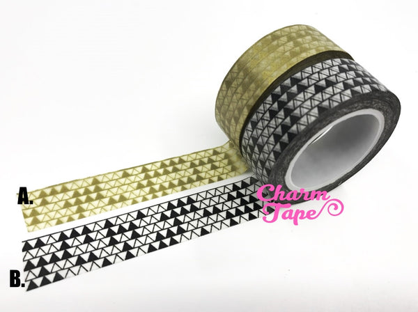 Triangles Washi Tape 15mm x 10m WT276 - CharmTape - 4