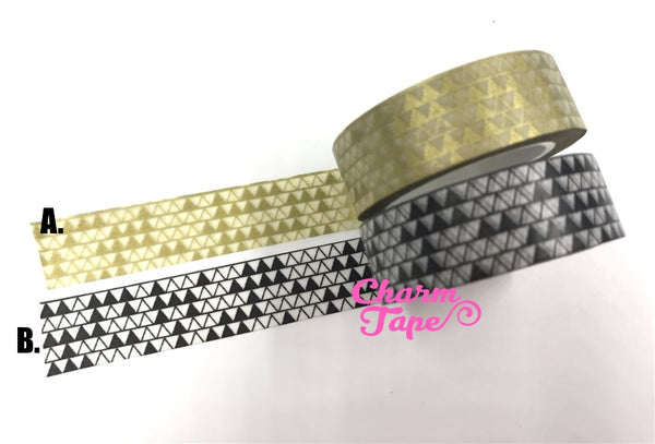 Triangles Washi Tape 15mm x 10m WT276 - CharmTape - 6