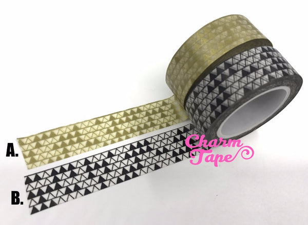 Triangles Washi Tape 15mm x 10m WT276 - CharmTape - 7