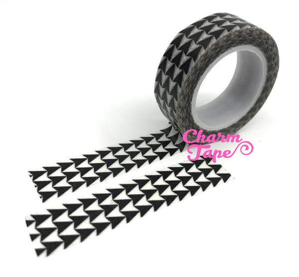 Black Triangle Arrows Washi Tape 15mm 10m WT539 - CharmTape - 2