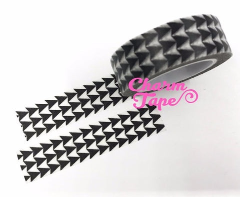 Black Triangle Arrows Washi Tape 15mm 10m WT539 - CharmTape - 1