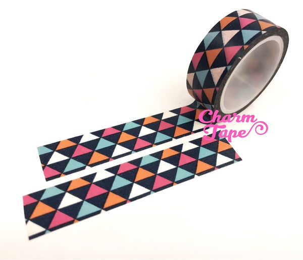 Colorful triangles Washi Tape Full Roll 15mm WT254 - CharmTape - 3