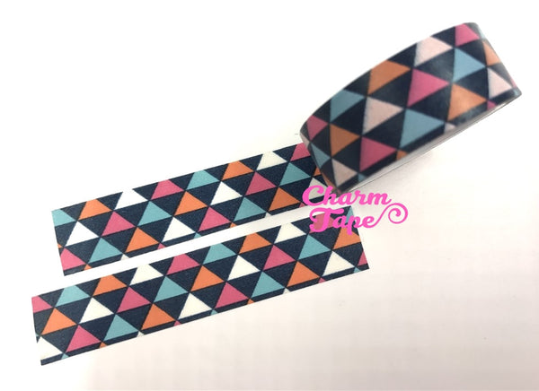 Colorful triangles Washi Tape Full Roll 15mm WT254 - CharmTape - 1