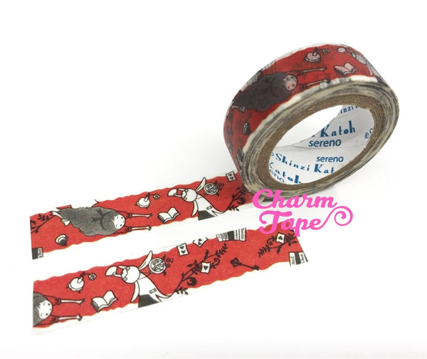 Alice in Wonderland Washi Tape - 10 meters WT828 Shinzi Katoh - CharmTape - 5
