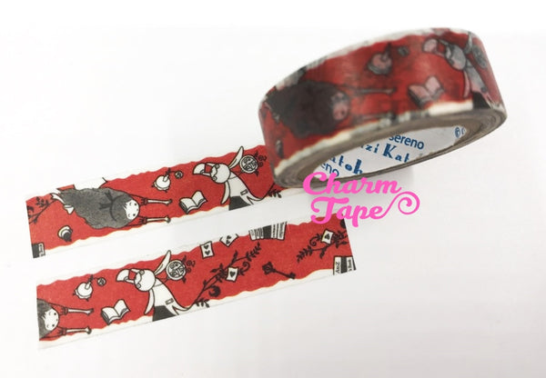 Alice in Wonderland Washi Tape - 10 meters WT828 Shinzi Katoh - CharmTape - 1