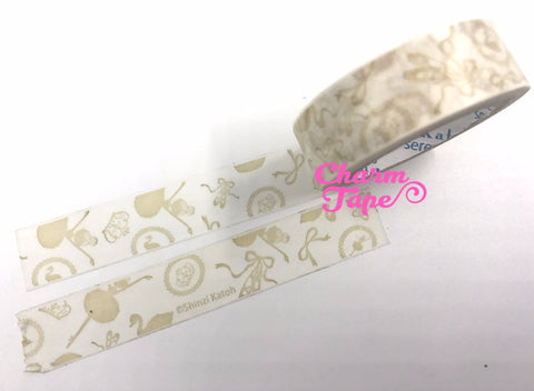 Washi tape Ballet Ballerina 15mm x 10m by Shinzi Katoh WT749 - CharmTape - 1