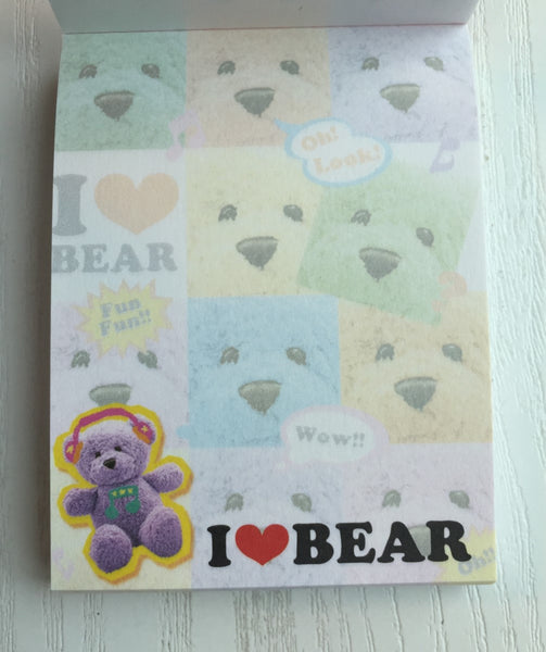 I heart Bear mini Memo Pad by Kamio from Japan - CharmTape - 2