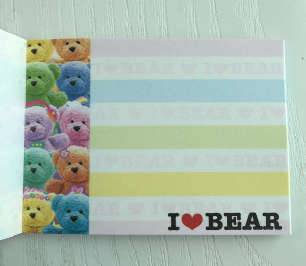 I heart Bear mini Memo Pad by Kamio from Japan - CharmTape - 3