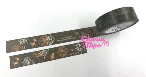 Autumn Animal Washi tape 15mm x 10m WT718 by Shinzi Katoh - CharmTape - 1