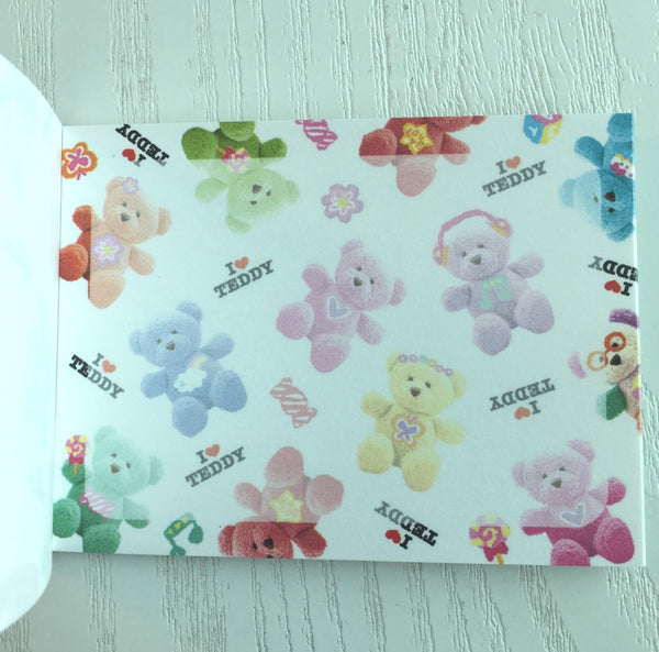 I Love Teddy mini Memo Pad by Kamio from Japan - CharmTape - 3