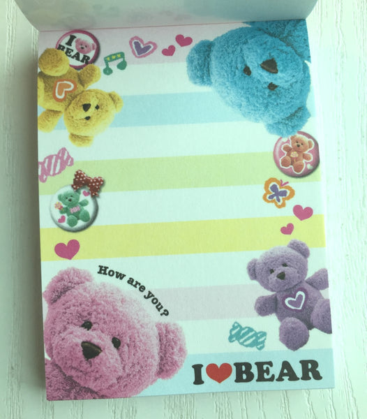 I Love Bear mini Memo Pad by Kamio from Japan - CharmTape - 2