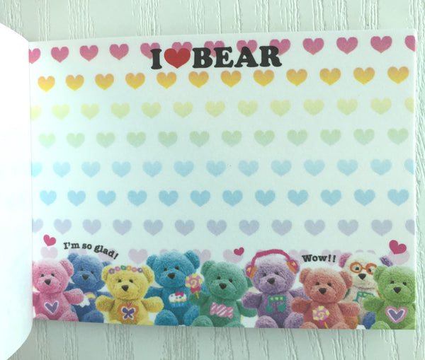 I Love Bear mini Memo Pad by Kamio from Japan - CharmTape - 3