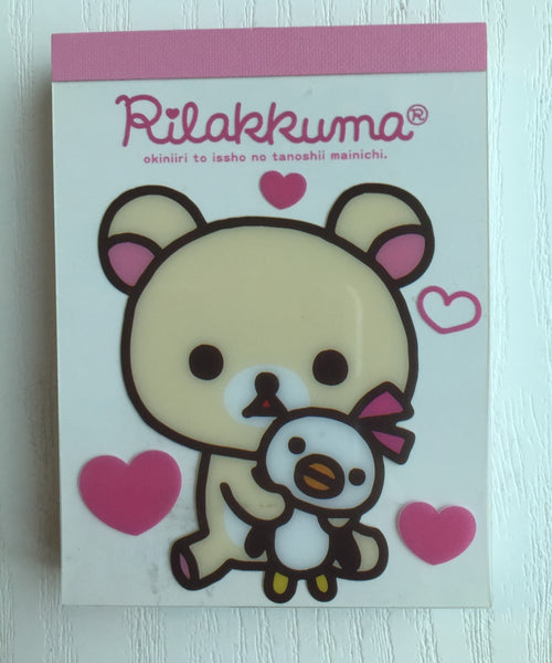 Rilakkuma bear mini Memo Pad by San-x from Japan - CharmTape - 1