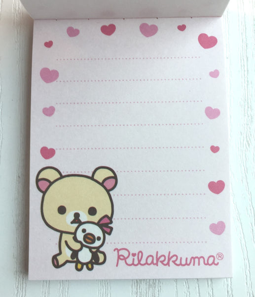 Rilakkuma bear mini Memo Pad by San-x from Japan - CharmTape - 3