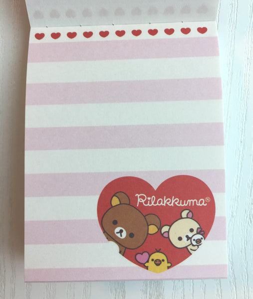 Rilakkuma bear mini Memo Pad by San-x from Japan - CharmTape - 2