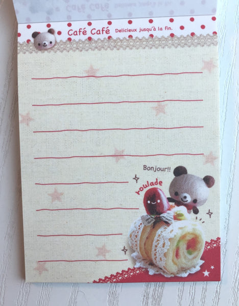 Cafe Cafe mini Memo Pad by Kamio from Japan - CharmTape - 3
