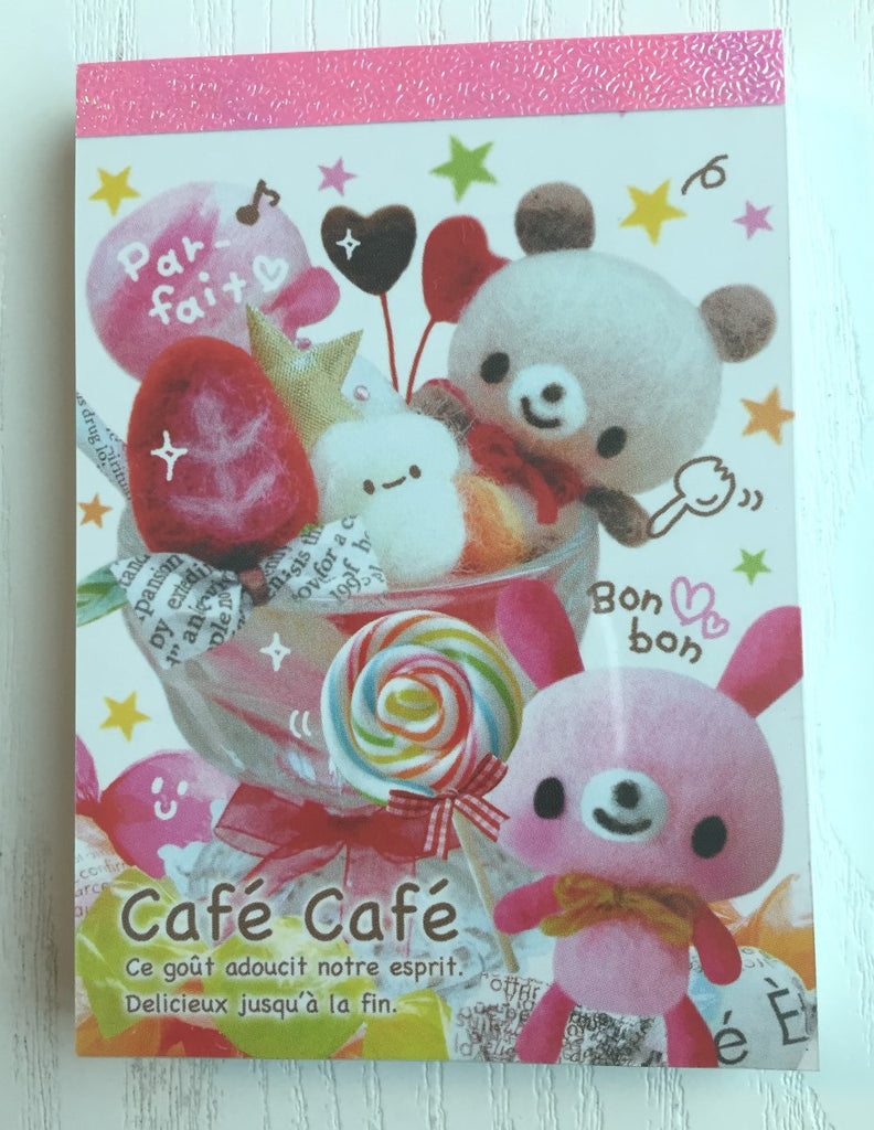 Cafe Cafe mini Memo Pad by Kamio from Japan - CharmTape - 1