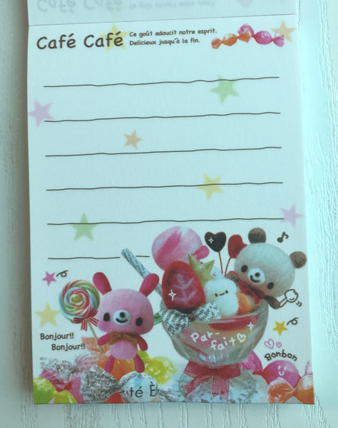 Cafe Cafe mini Memo Pad by Kamio from Japan - CharmTape - 2