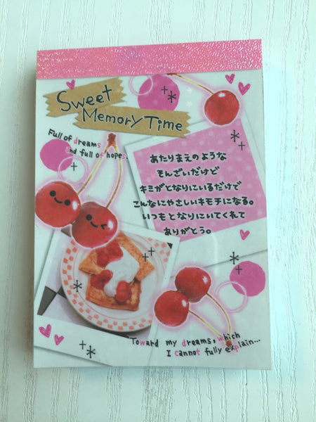 Sweet Memory Time mini Memo Pad by Crux from Japan - CharmTape - 1