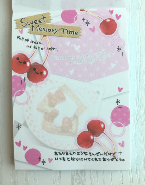 Sweet Memory Time mini Memo Pad by Crux from Japan - CharmTape - 2