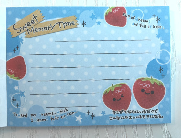 Sweet Memory Time mini Memo Pad by Crux from Japan - CharmTape - 3