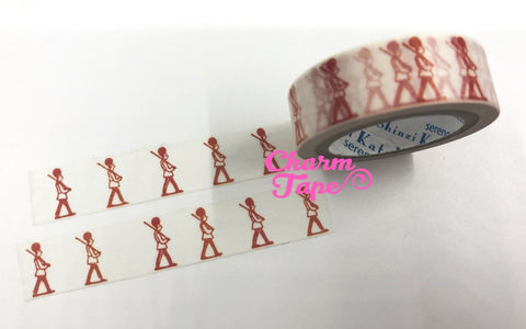 Red Soldiers washi tape - 10 meters WT824 Shinzi Katoh - CharmTape - 1