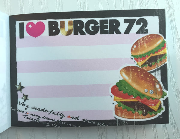 I Love Burger mini Memo Pad by Crux from Japan - CharmTape - 3
