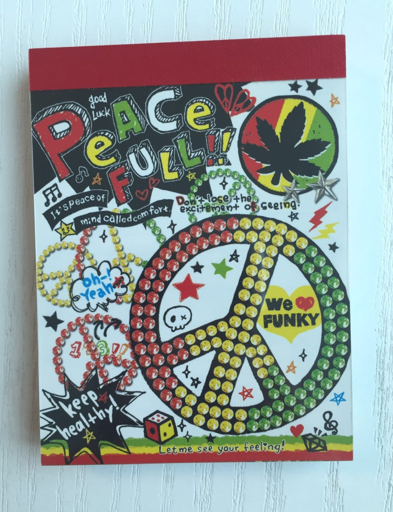 Peace Full mini Memo Pad by Poolcool from Japan - CharmTape - 1