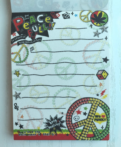 Peace Full mini Memo Pad by Poolcool from Japan - CharmTape - 2